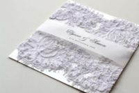 wedding invitation card with lace