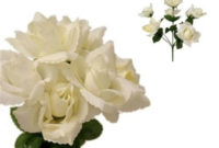 cream silk open roses wedding flowers
