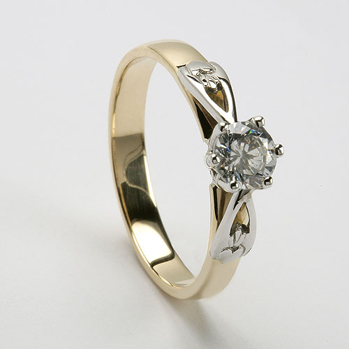 celtic engagement ring with a diamond