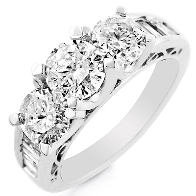 Make Her Eyes Sparkle with 14k White Gold Engagement Rings