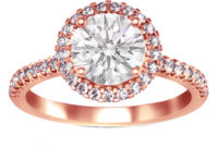 rose gold engagement ring with big diamond