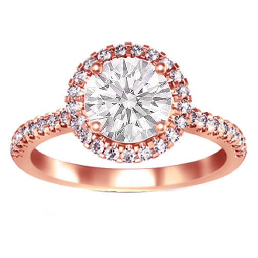 Attractive Hue of Rose Gold Engagement Rings Cherry Marry