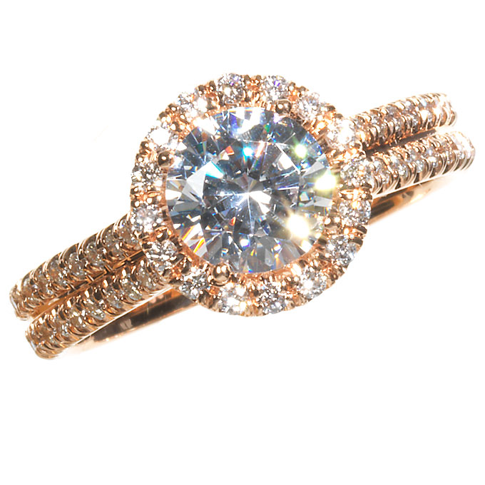Attractive Hue of Rose Gold Engagement Rings