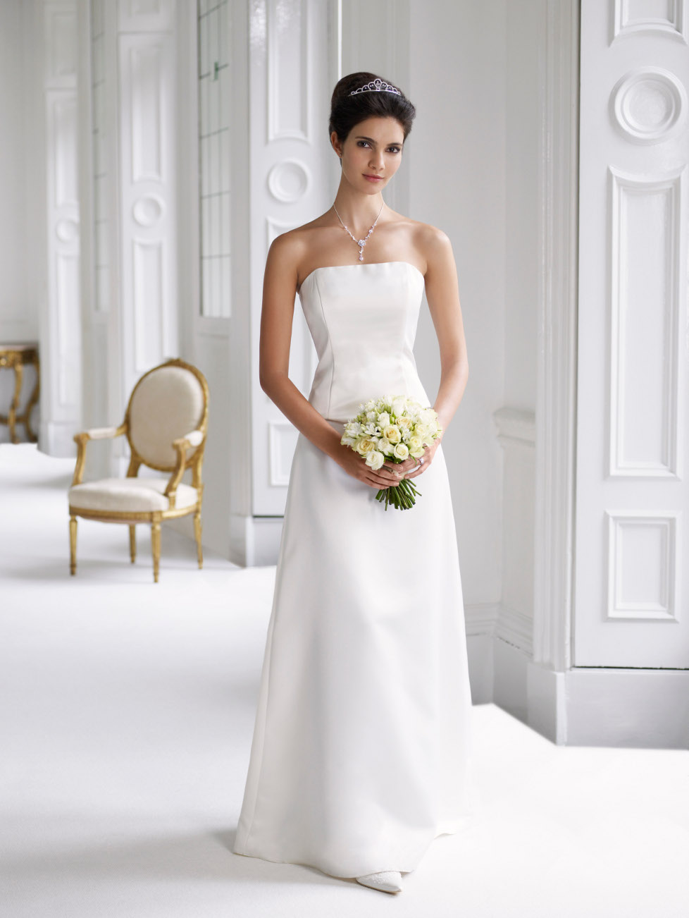 The white wedding dress cherry marry for Marry me wedding dresses