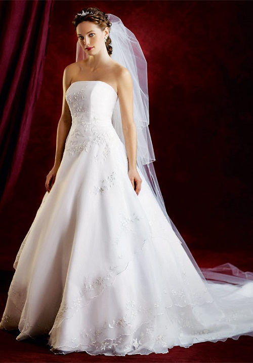 White wedding dresses cherry marry for Marry me wedding dresses