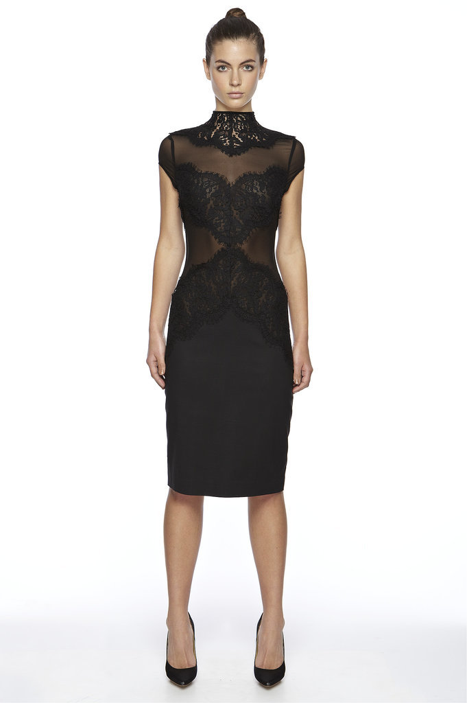 black wedding guest dress for winter 2014