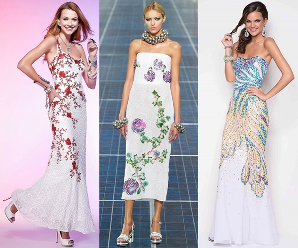 Long Gowns For Wedding Guests: Floral Long Wedding Guest DressesCherry Marry