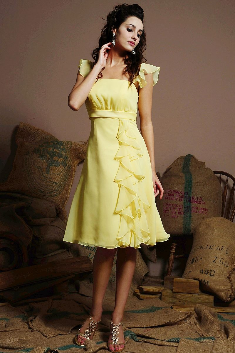 Cheerful collections of yellow wedding guest dresses for Yellow dresses for weddings