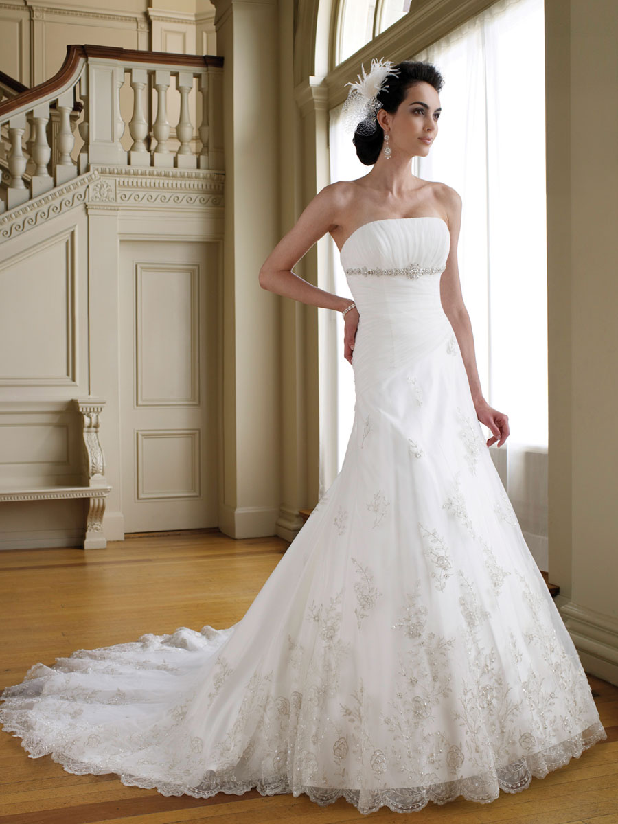 Classical Lace A-line Wedding Dresses – Cherry Marry