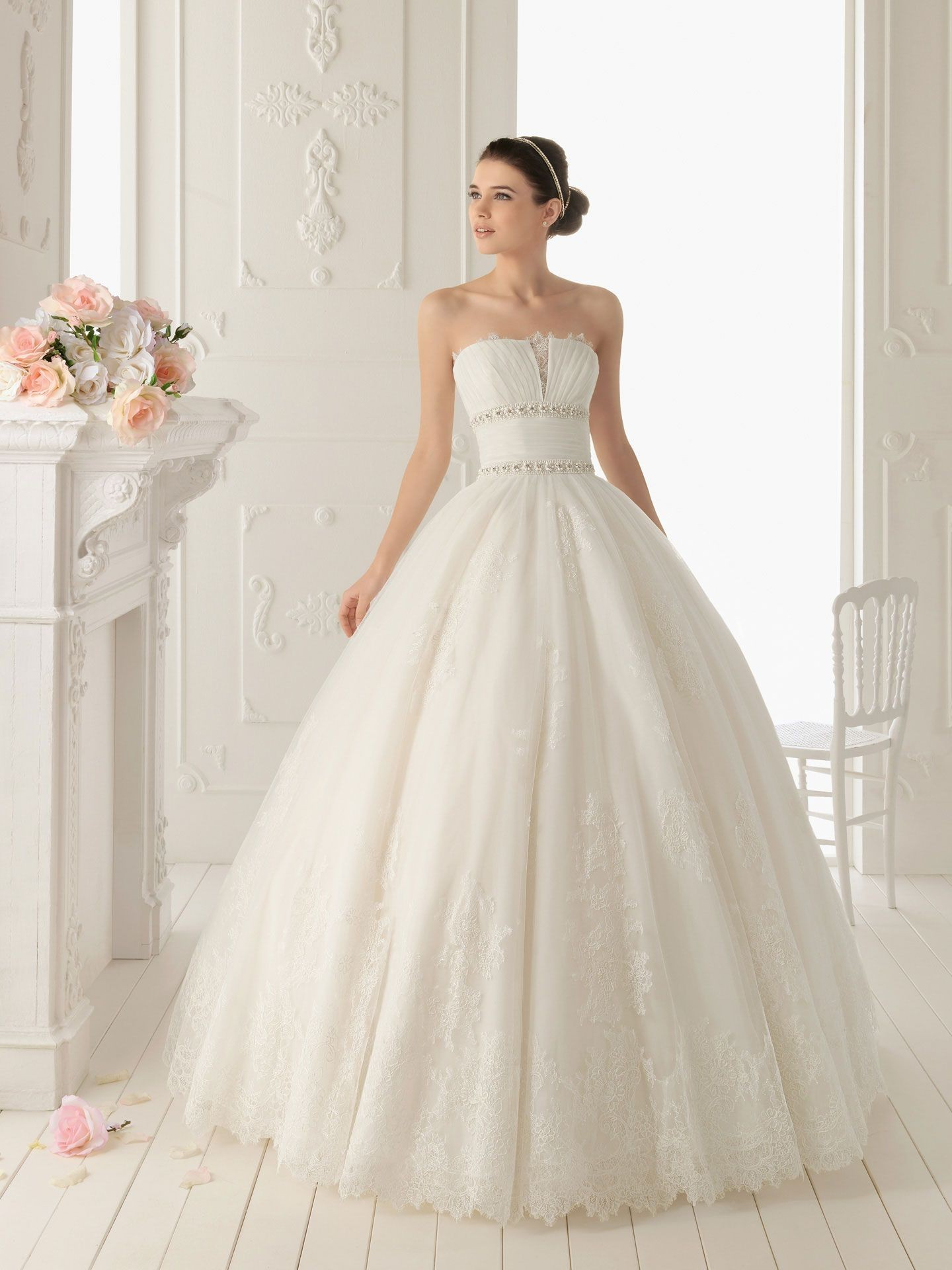 Elegant look with lace ball gown wedding dresses cherry for Lacy wedding dresses