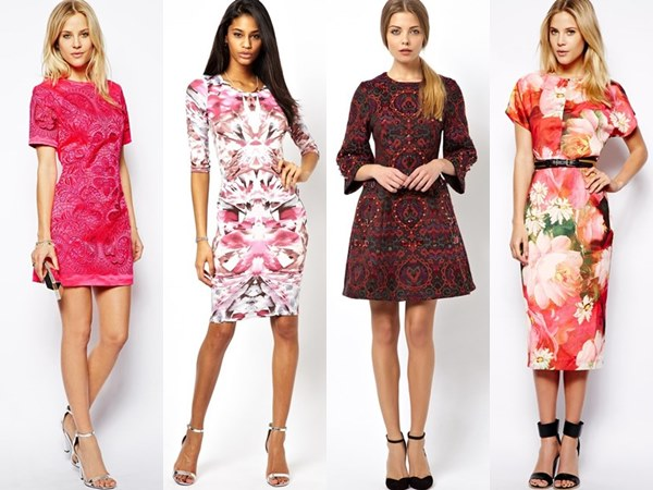 short colorful wedding guest dresses for spring 2014