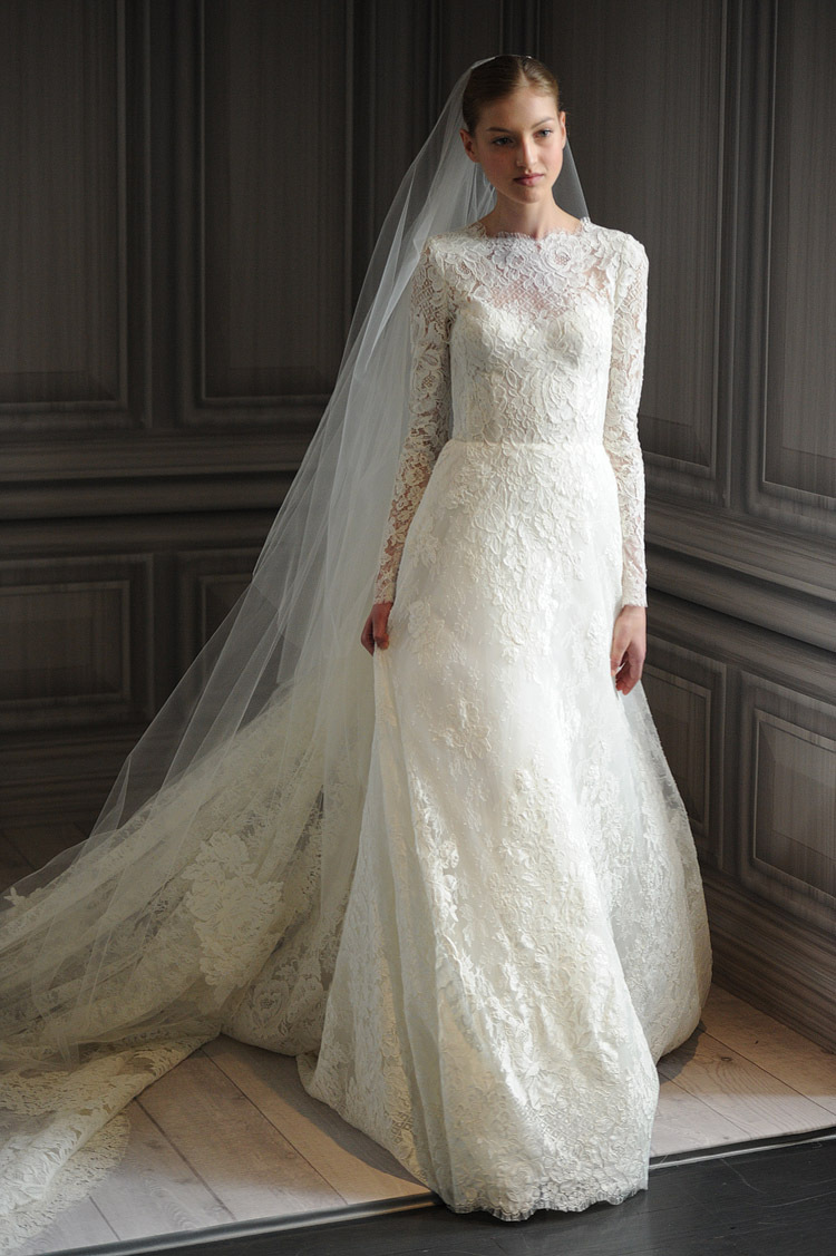Chic photos of vintage lace wedding dresses with long for Vintage lace dress wedding