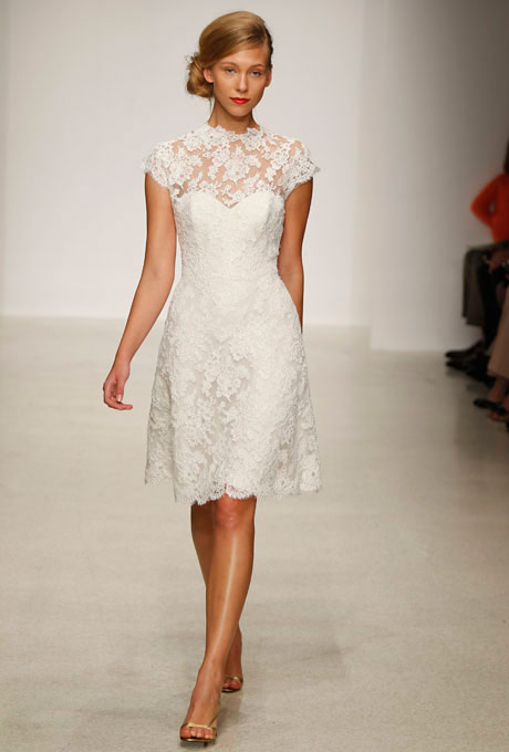 Amsale short lace wedding dresscherry marry cherry marry amsale short lace wedding dress junglespirit Choice Image