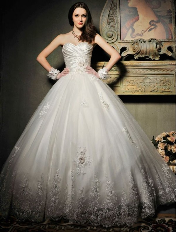 Elegant Photos of Ball Gown Wedding Dresses with Sweetheart ...
