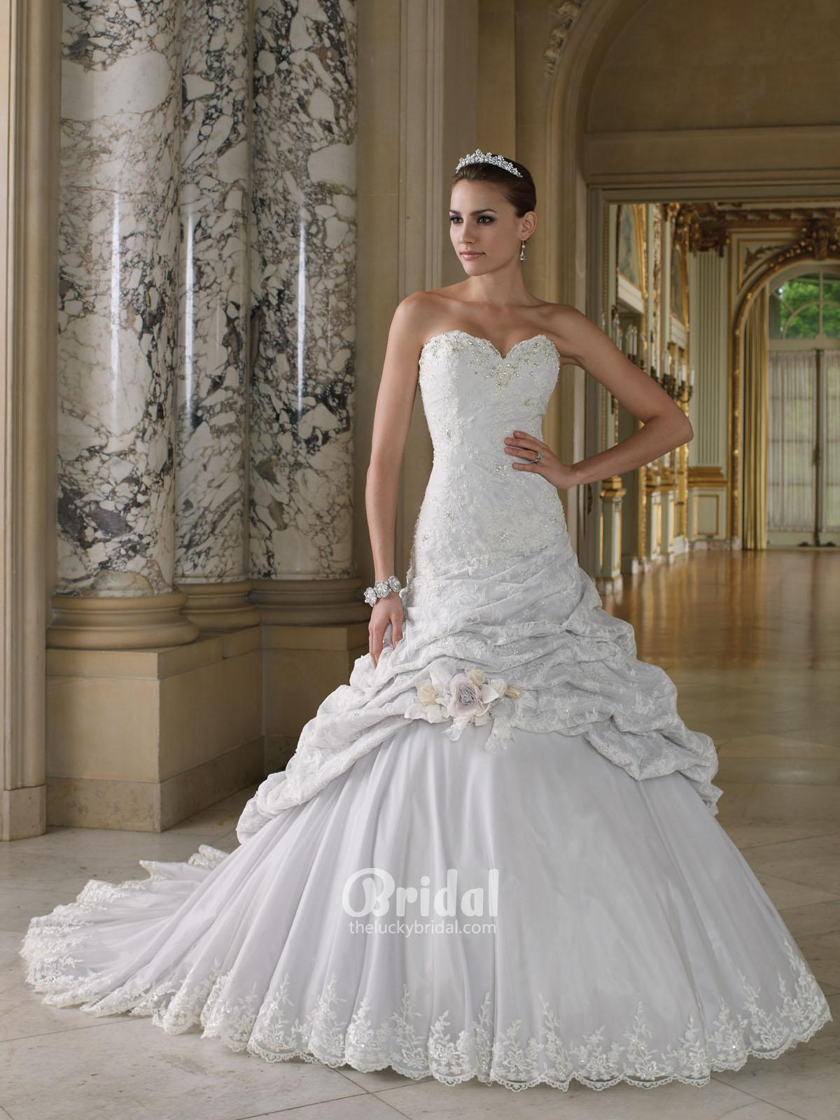 elegant photos of ball gown wedding dresses with