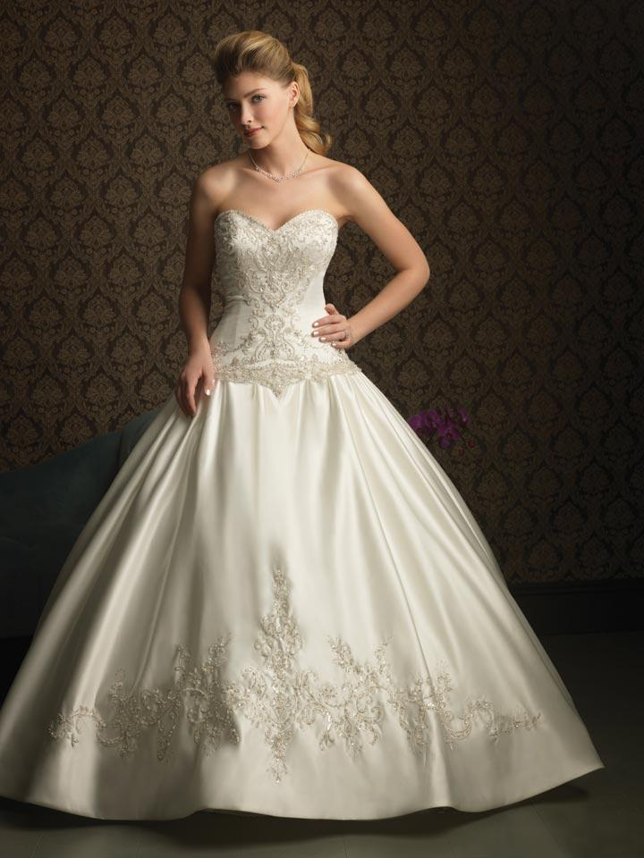 Elegant collection of beaded ball gown wedding dresses for Beading for wedding dress