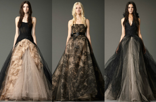 black wedding dresses from vera wang