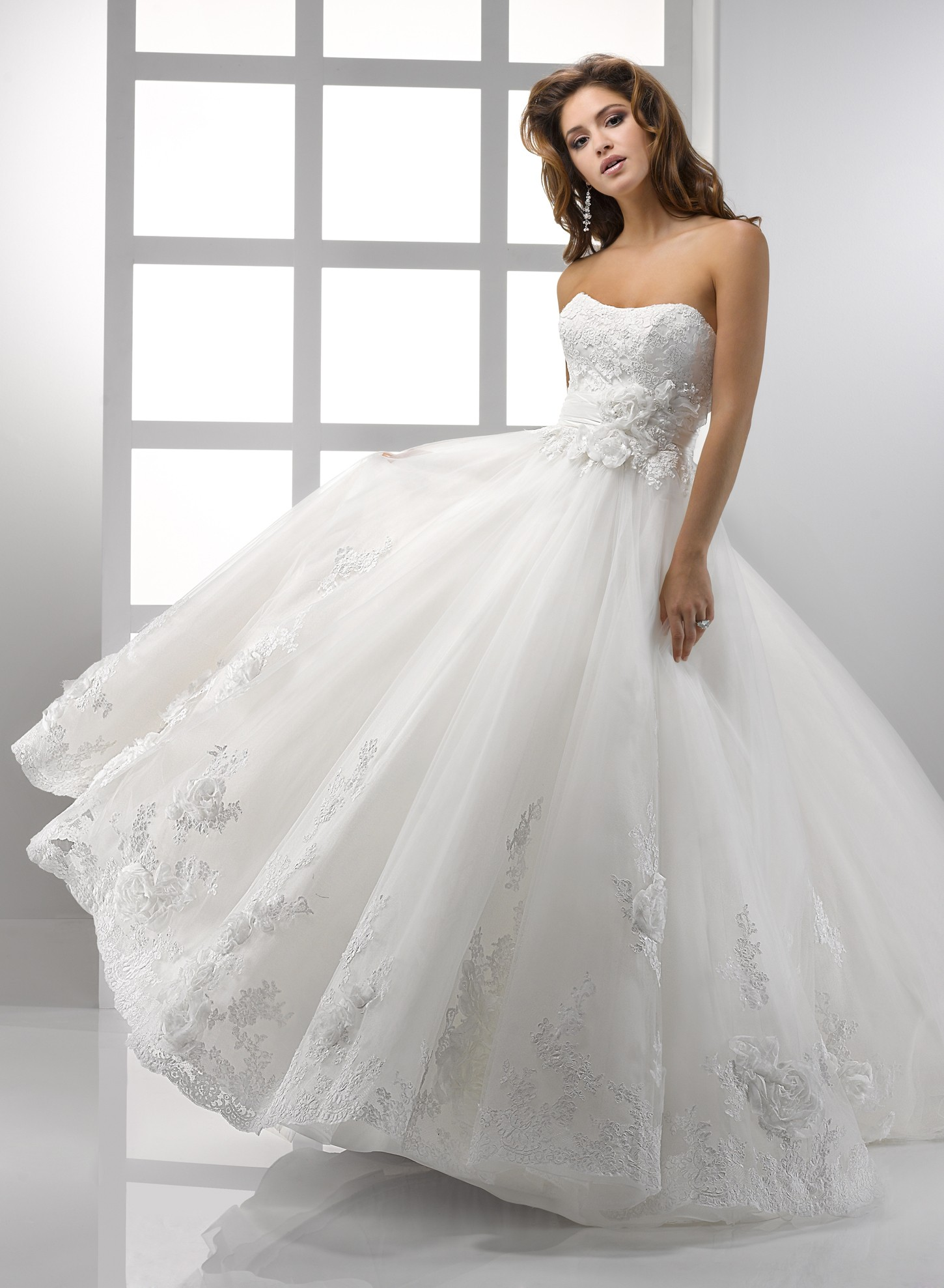 Looking fabulous with lace ball gown wedding dresses for Pretty ball gown wedding dresses
