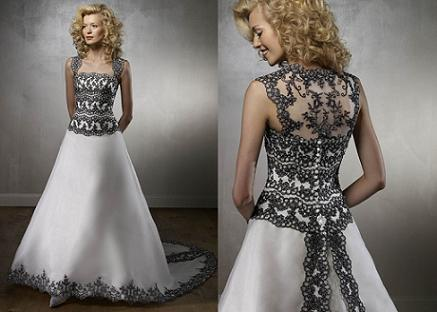 mori lee black lace wedding dresses