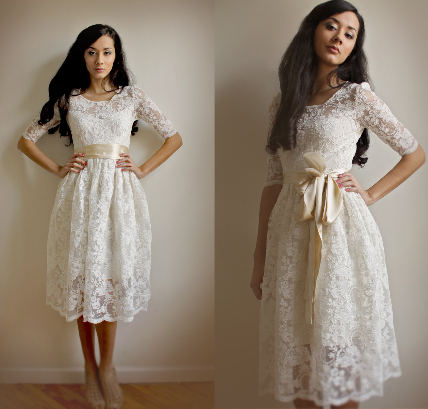 Stylish Collections of Short Lace Vintage Wedding Dresses