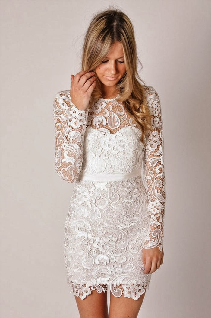Wedding Dresses With Lace Short Sleeves 11