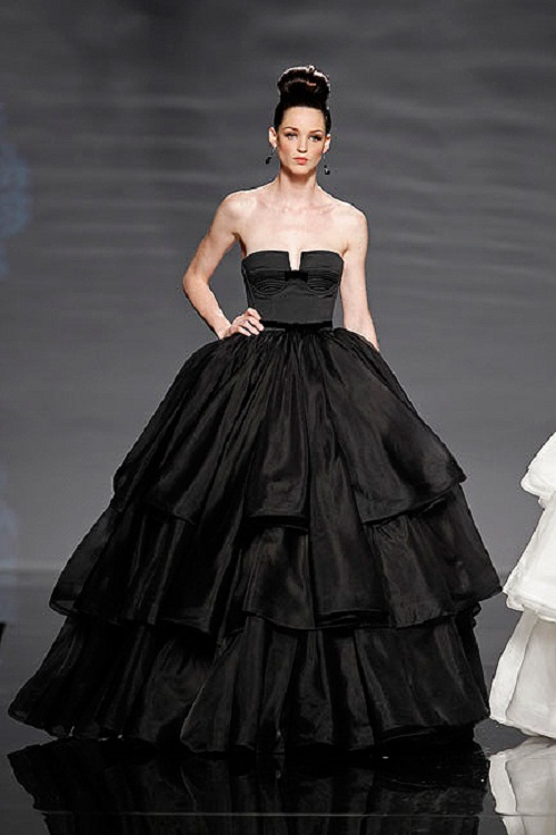 Vera Black Ball Gown Wedding Dress