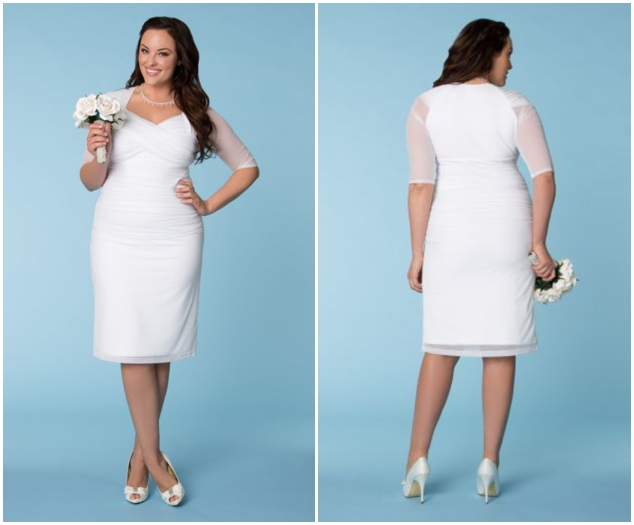 White Plus Size Short Lace Wedding Dressescherry Marry Cherry Marry