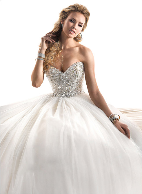 Ball Gown Wedding Dresses With Diamonds Cherry Marry