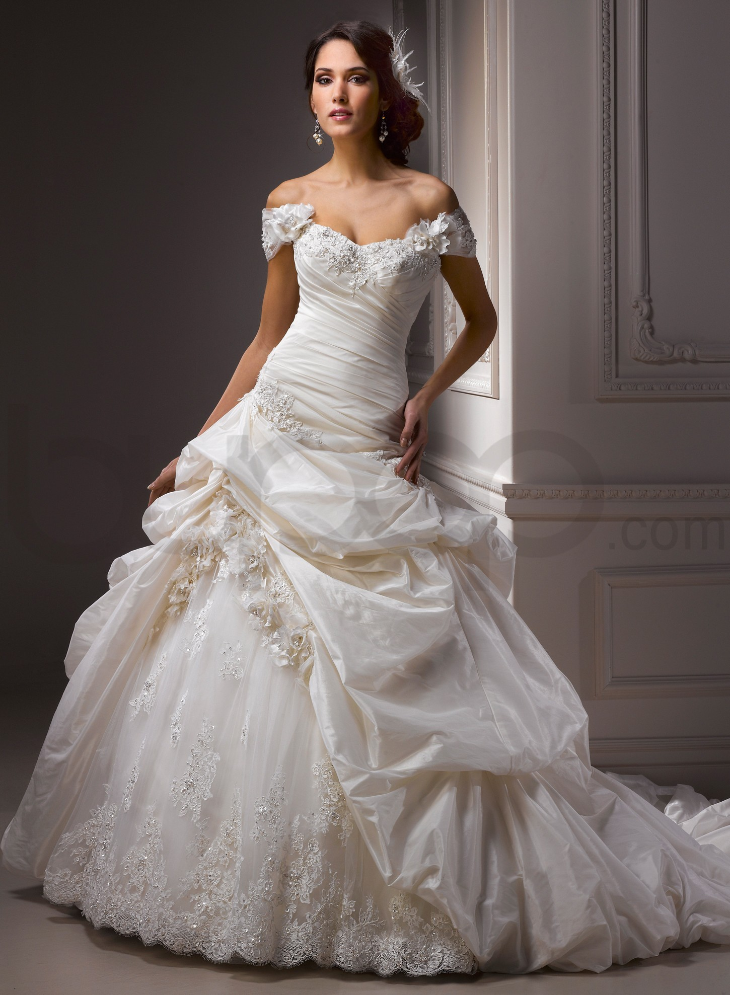 ball gown wedding dresses with sleevescherry marry