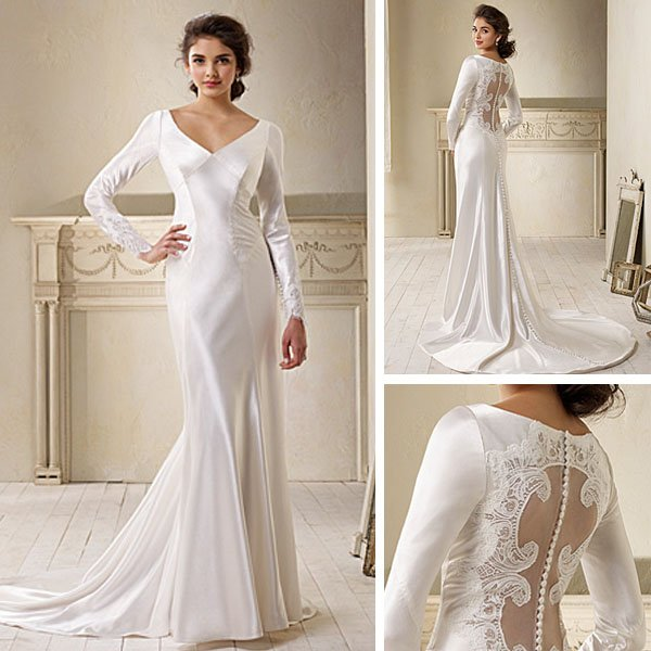 Modest Collection of Mermaid Wedding Dresses with Long Sleeves ...