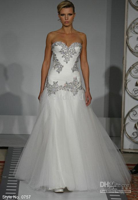 Wedding Dresses Without Bling : Bling mermaid wedding dresses dress with