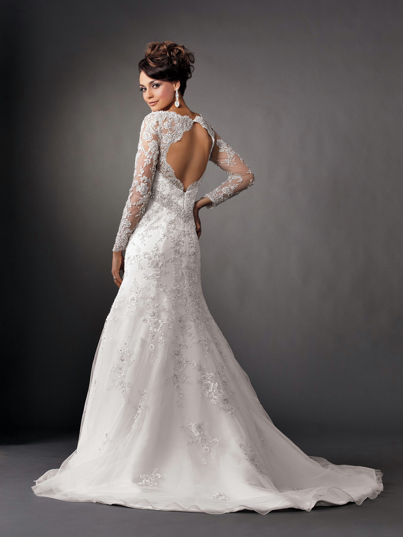 mermaid wedding dresses with sleeves
