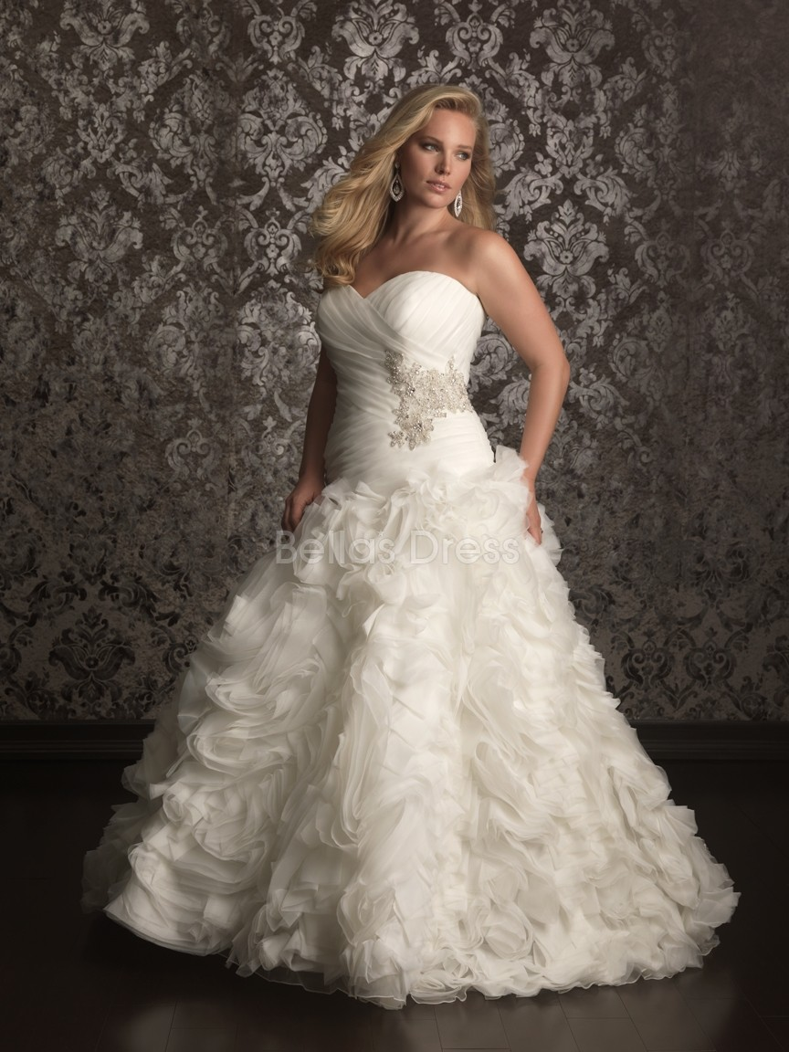 Elegant Collection of Plus Size Ball Gown Wedding Dresses | Cherry Marry
