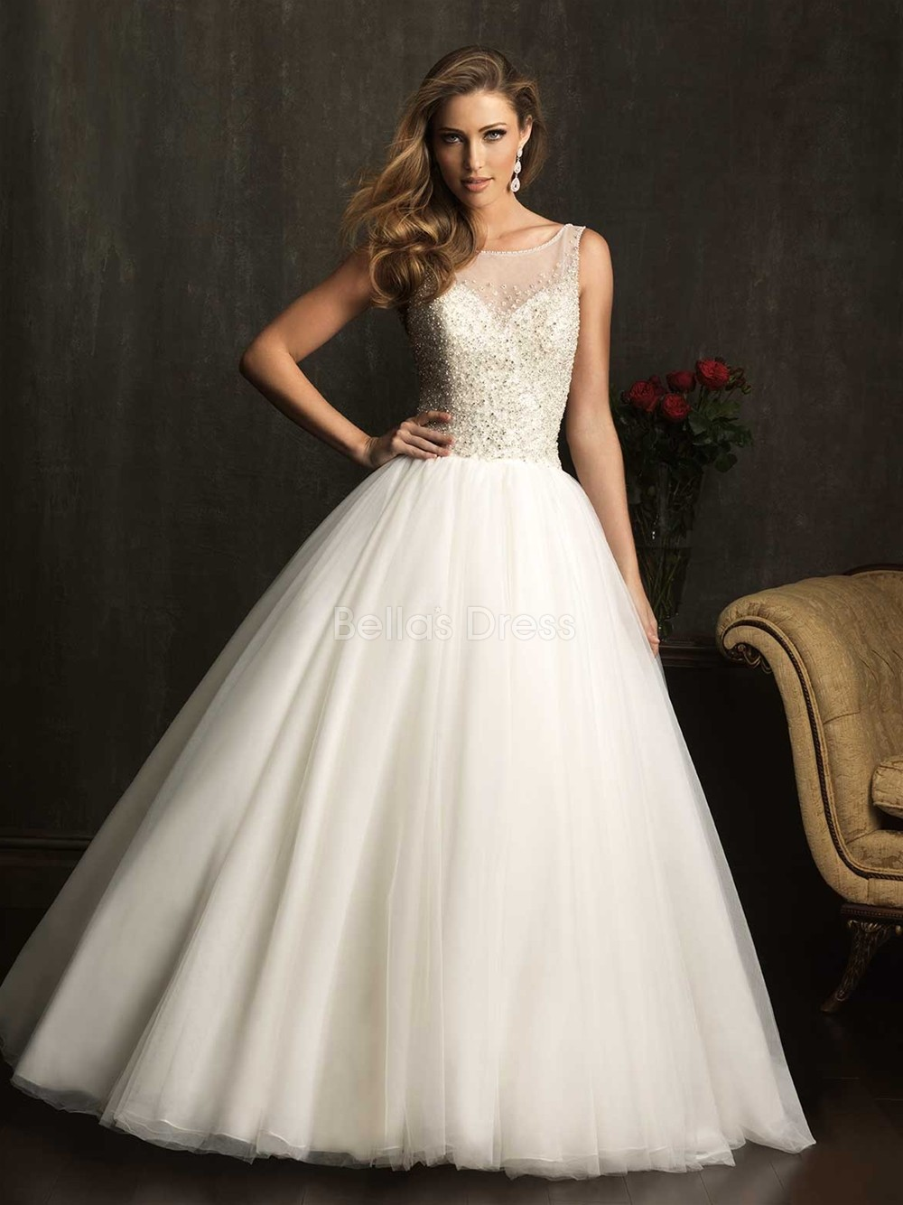 Vintage ball gown wedding dresses for classical bridal for When to buy wedding dress