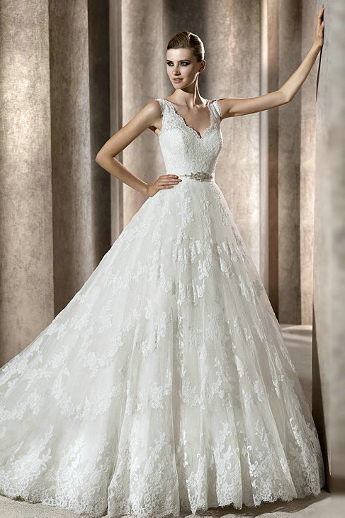 Vintage Ball Gown Wedding Dresses For Classical Bridal
