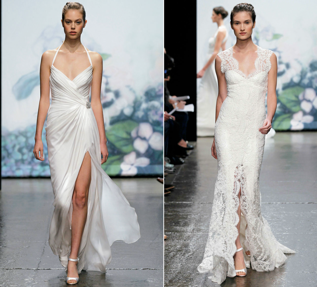 amazing lace wedding dresses with sweetheart by Monique Lhuillier