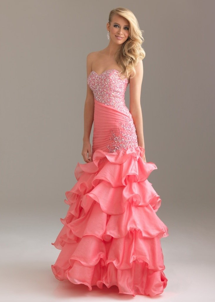 hot pink mermaid wedding dress with sexy sweetheart neckline ...