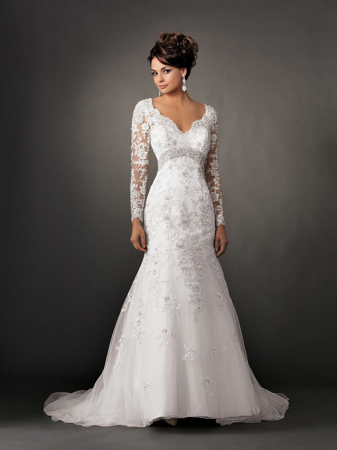 classical collection of mermaid wedding dresses with lace