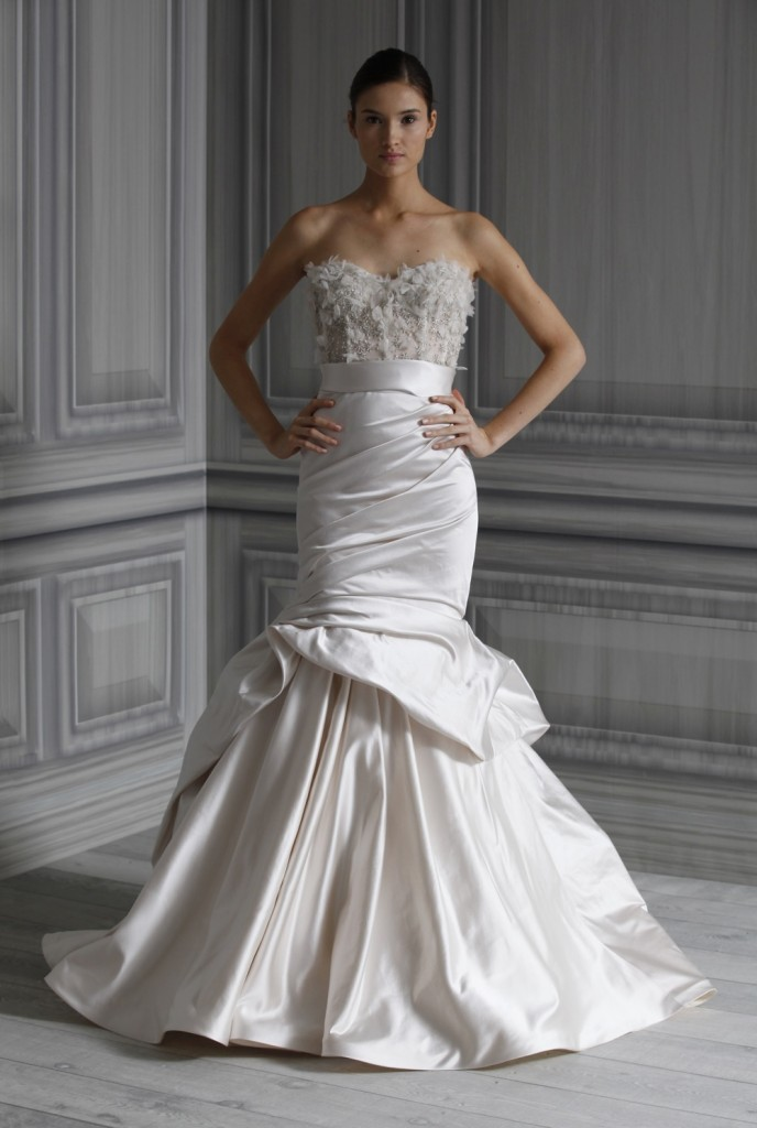amazing monique lhuillier mermaid wedding dresses cherry