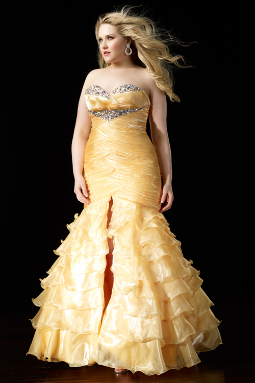 Elegant Yellow Mermaid Wedding Dresses | Cherry Marry