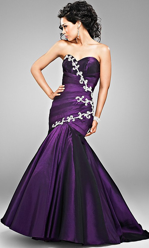 romantic purple mermaid wedding dresses cherry marry