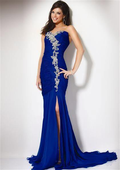 pretty royal blue mermaid wedding dresses cherry marry