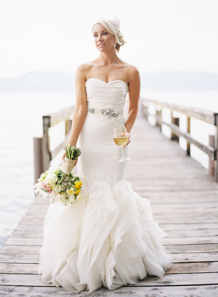 vera wang sweetheart mermaid wedding dress