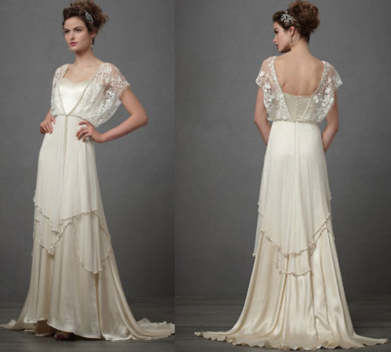 Vintage wedding dresses 1920 cherry marry for Antique inspired wedding dresses