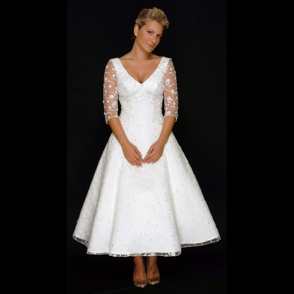 Gorgeous Vintage Tea Length Wedding Dresses