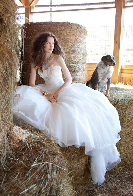 White rustic strapless ball gown wedding dresscherry marry for Rustic country wedding dresses