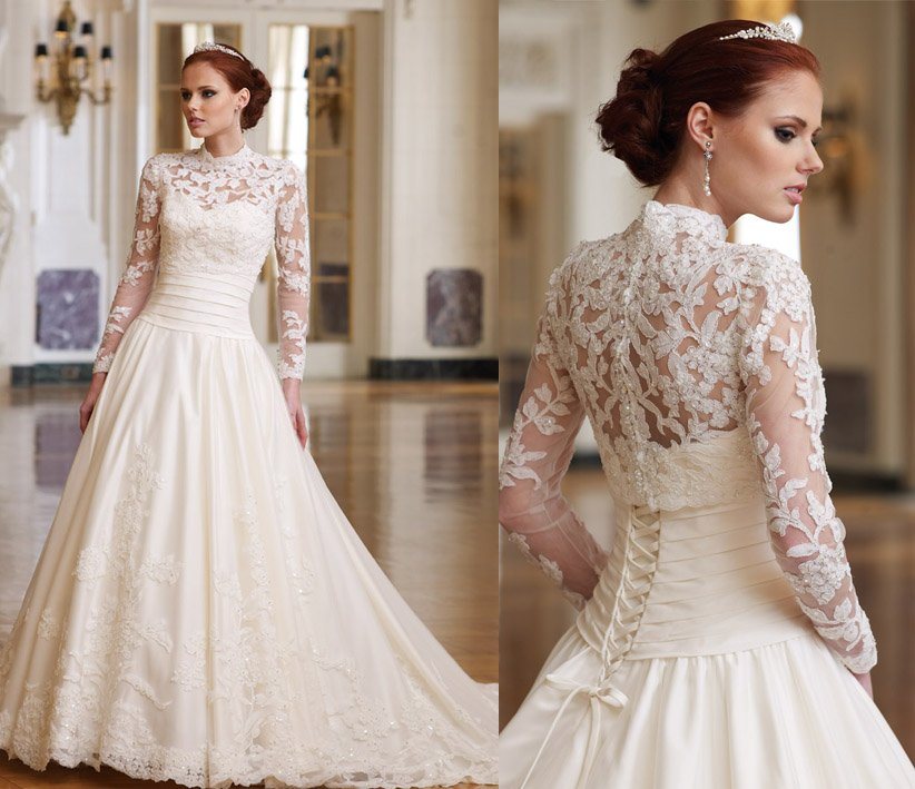 Stunning Photos Of Corset Wedding Dresses With Sleeves