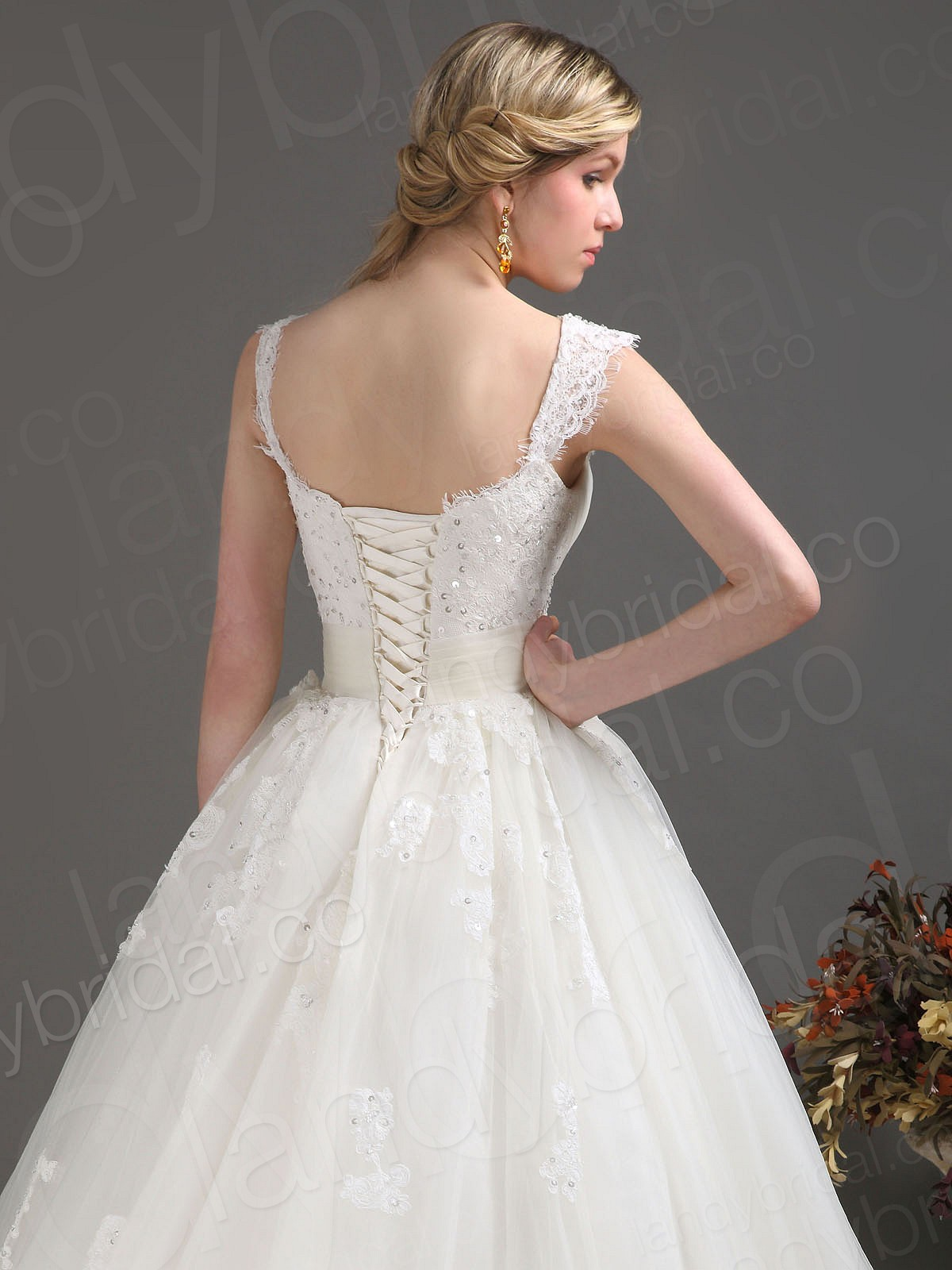 Wedding Dresses Lace Corset Back - High Cut Wedding Dresses