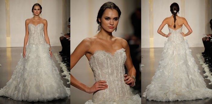 Gorgeous collection of sheer lace corset wedding dresses for Sheer bodice wedding dress