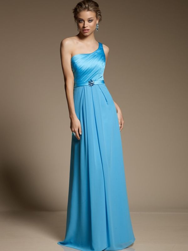 aqua blue bridesmaid dress for beach wedding